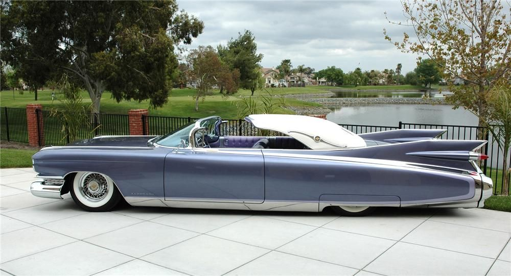 1959 cadillac eldorado custom seville convertible side profile rh pinterest com