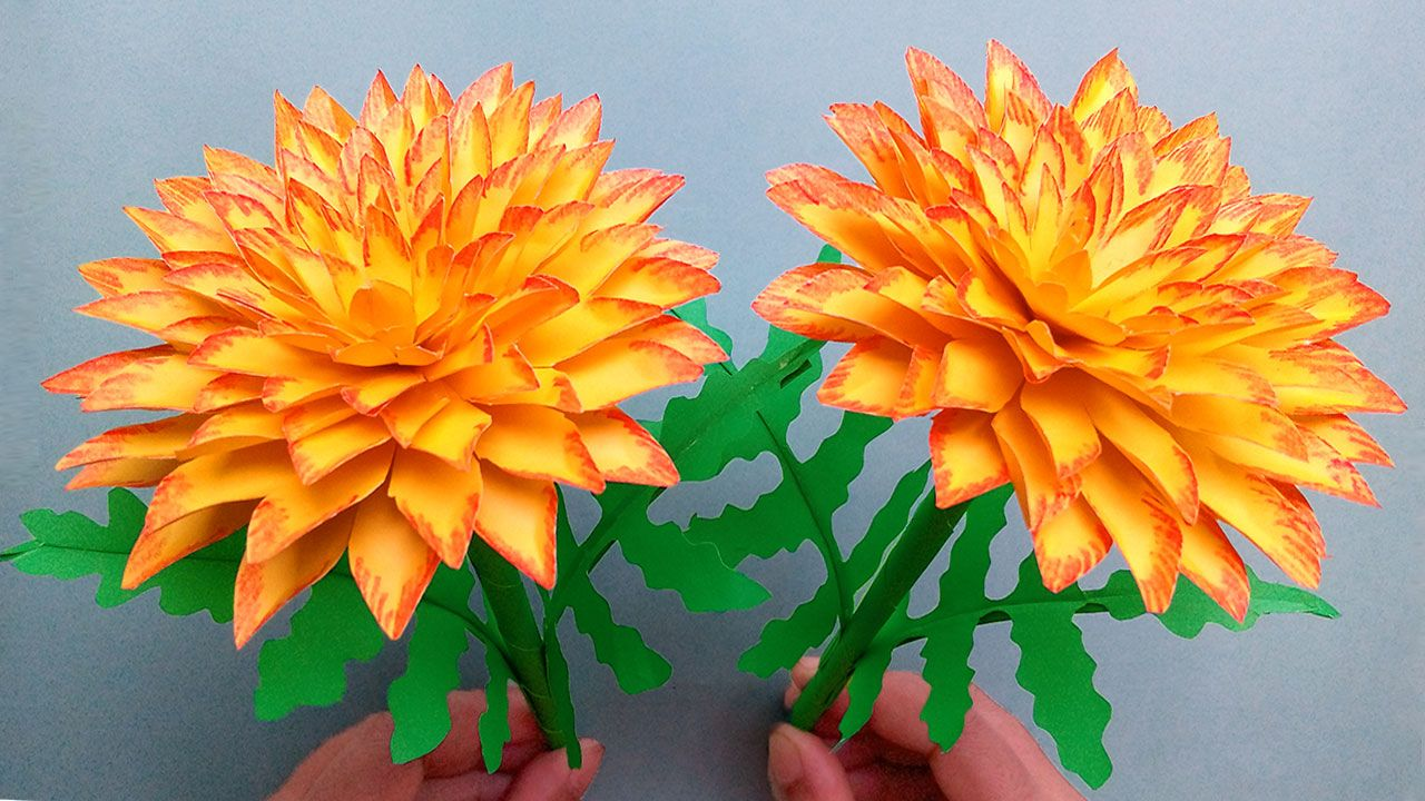 Today I Am Sharing A Beautiful Paper Flower Making Tutorial On My