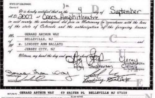 Marriage Certificate Nj