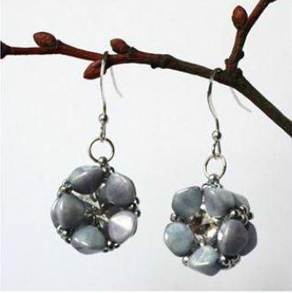 Pinch Bead Blossom Earrings Miyuki Seed Beads Swarovski Crystals Jewelry Making Beaded Earrings