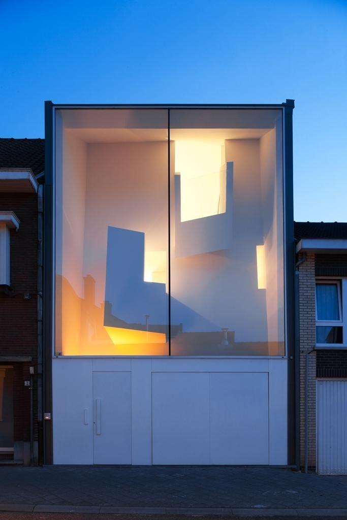 The narrow house, Bilzen, Belgium, by Bassam El-Okeily Architecte, in collaboration with Karla Menten
