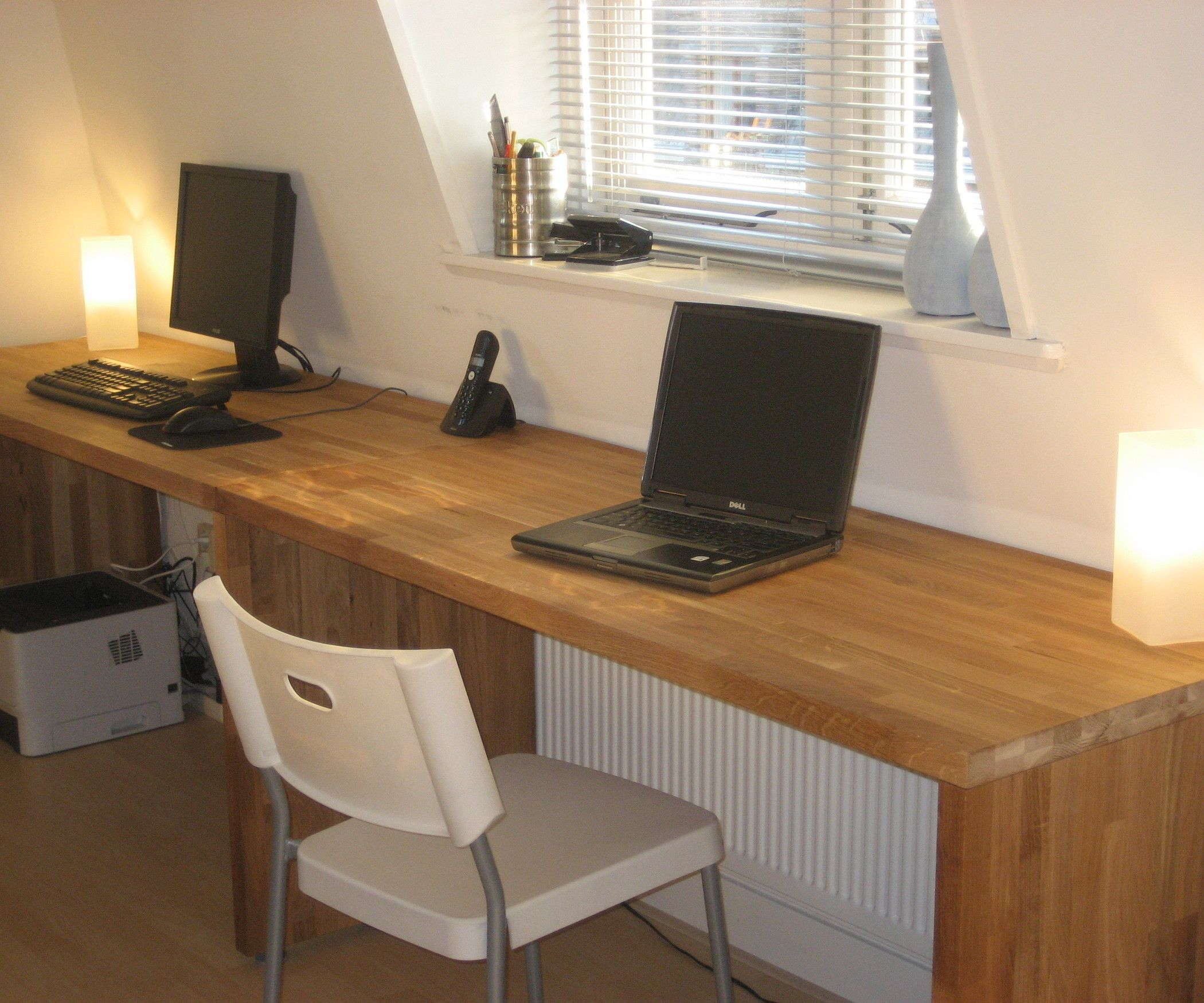 Ikea Kitchen Desk: Big Oak Desk From Kitchen Worktops
