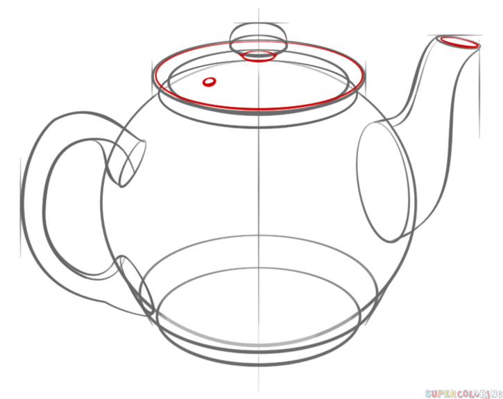 How to draw a teapot step by step. Drawing tutorials for