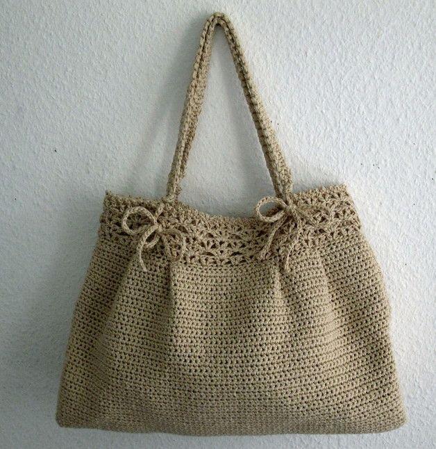 Handtasche - Hakeltasche Tasche gehäkelt - ein Designerstück von estema bei DaWanda