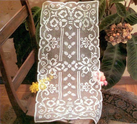 PDF Crochet pattern table runner Crochet doily by Marypatterns ...