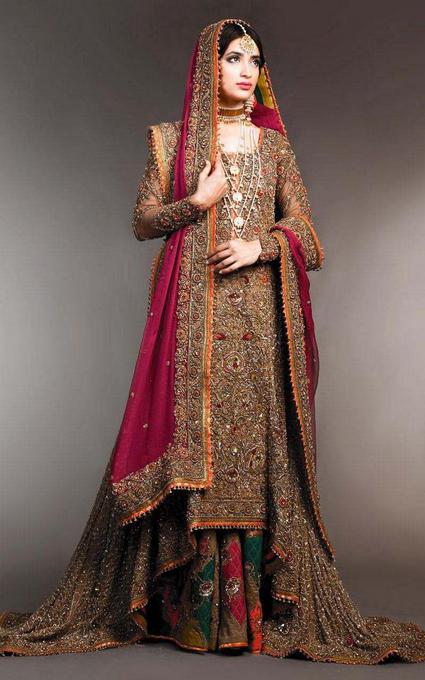 latest bridal sharara designs for wedding indian brides