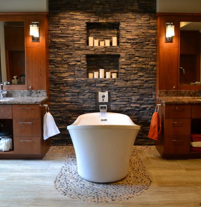 La vasca al centro flaminia ispirazione bagno per - Candele per bagno ...