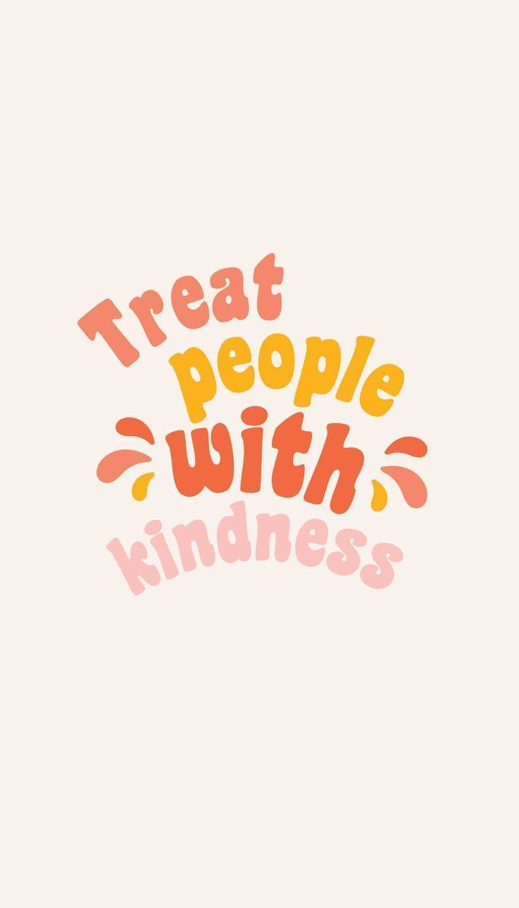 'Treat people with kindness' Sticker by hbailey-design