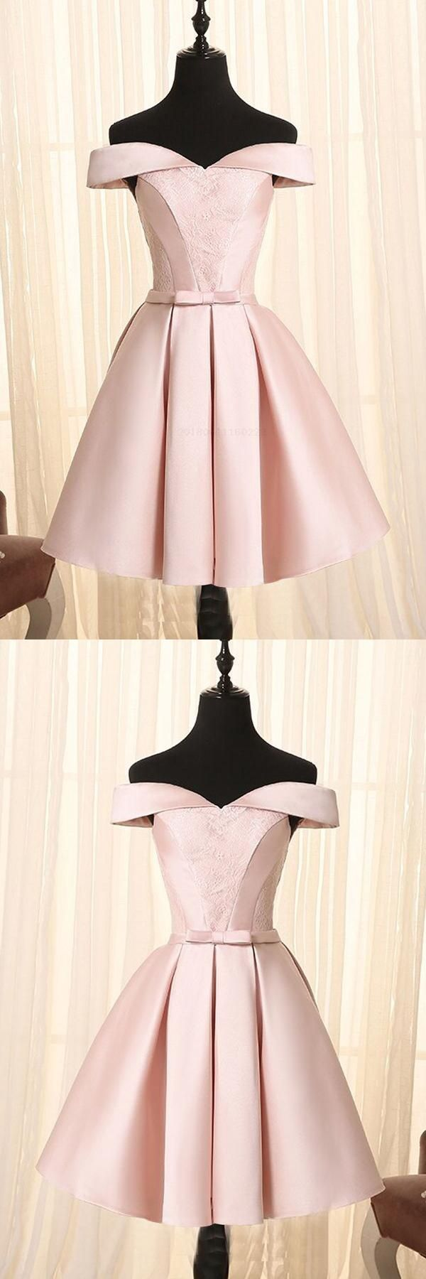 Hot sale appealing simple lace aline pink short homecoming
