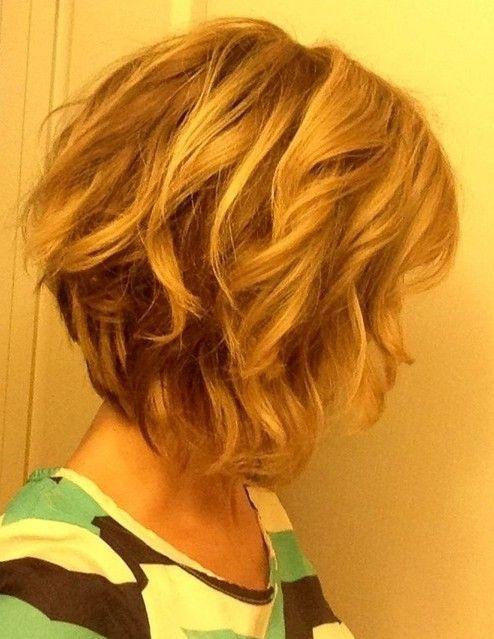 short wavy bob hairstyle | Hairstyle | Pinterest | Short wavy bob ...