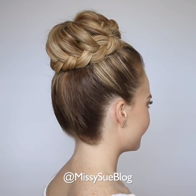Braided Hair Bun Tutorial Hairtutorials In 2020 Hair Bun Tutorial Braided Bun Hairstyles Bun Hairstyles For Long Hair