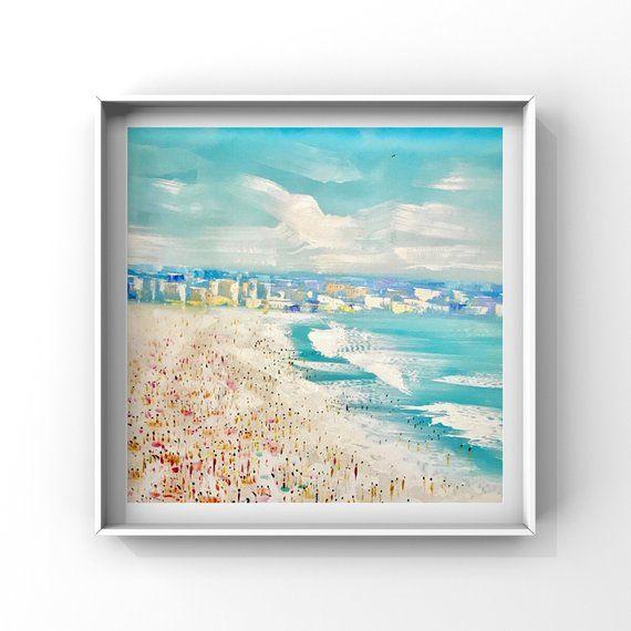 Beach Art Beach Print On Canvas Of An Original Art Print Giclee
