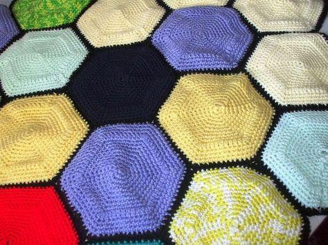 Free Hexagon Crochet Patterns | Pinterest