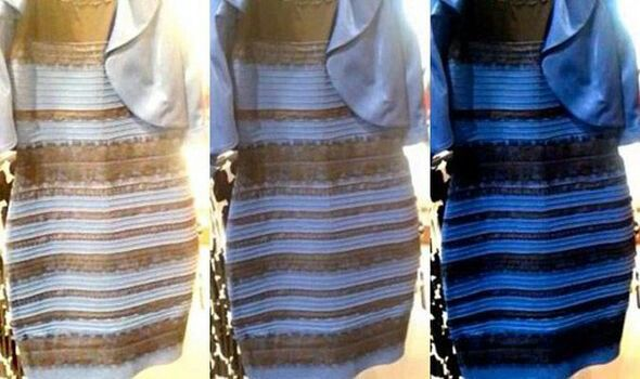 Everyone S Talking About This Dress One In The Middle Is The Original It Looks Black And Blue T Vestido Blanco Con Dorado Vestidos Azules Vestidos Blancos