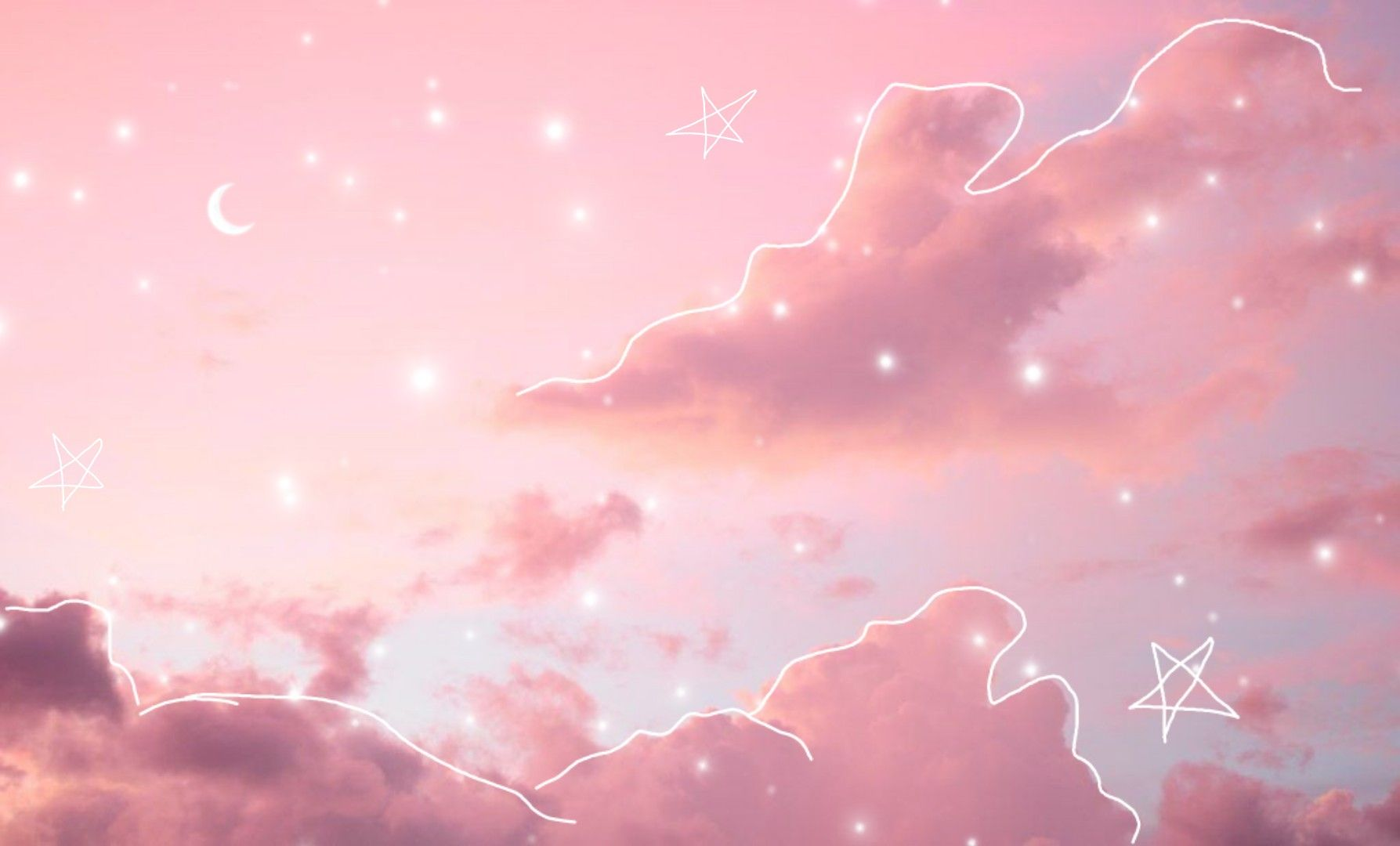 Cute Lofi Pink Wallpaper Laptop Pink Clouds Wallpaper Minimalist Desktop Wallpaper Aesthetic pink clouds wallpaper laptop