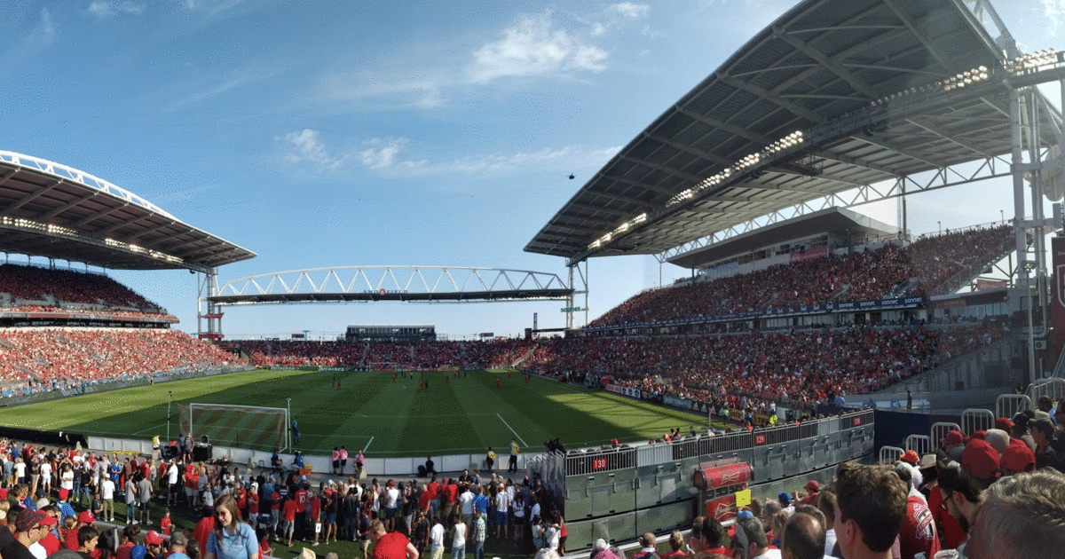 Toronto S Bmo Field Is Hosting A Massive Raptors Viewing Party Tonight After The Tfc Game In 2020 Bmo Field Toronto Bmo
