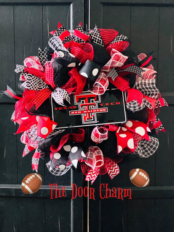 2020 Texas Tech Christmas Ornament Deluxe Texas Tech Wreath in 2020 | Texas tech decor, Texas tech