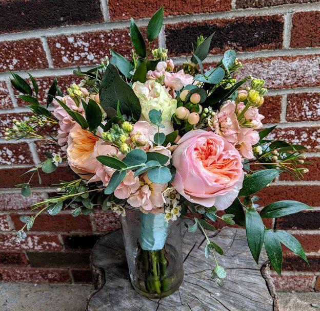 Juliet Garden Rose, Stock, Hypericum Waxflower And