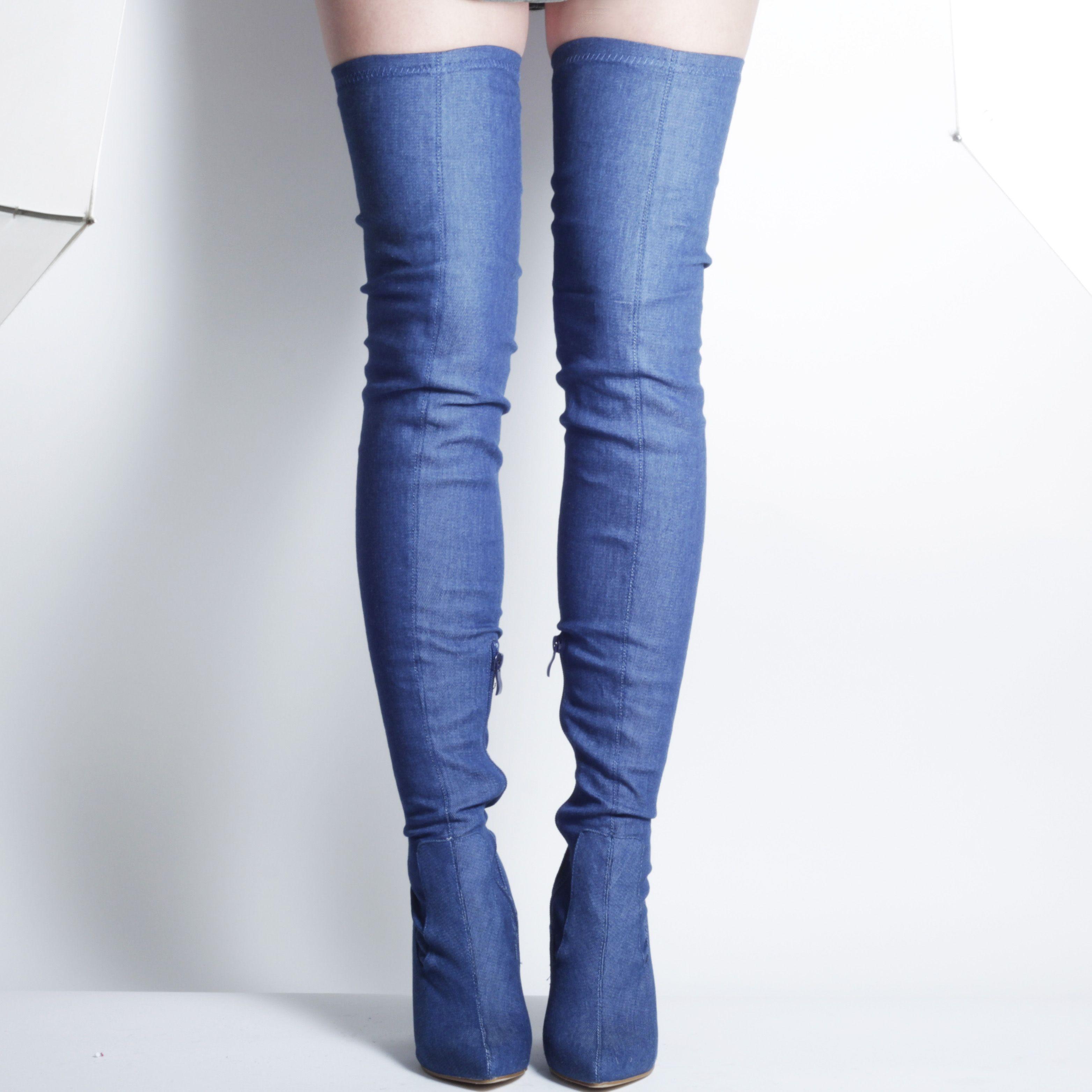 946b5b67705c Korky s WHAM1 Denim Knee Hight boots (It s Britney Bitch boots).   kneehighboots  overthekneeboots  denimboots  denim  korkys  korkysshoes