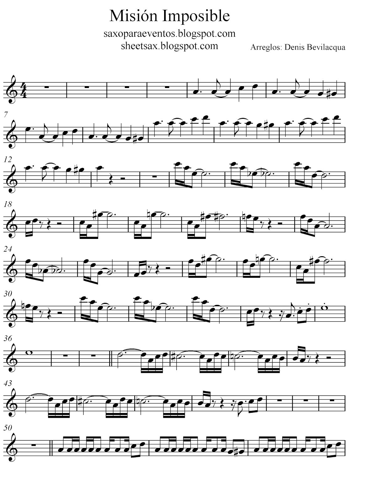Mission Impossible score and track (Sheet music free) | Free