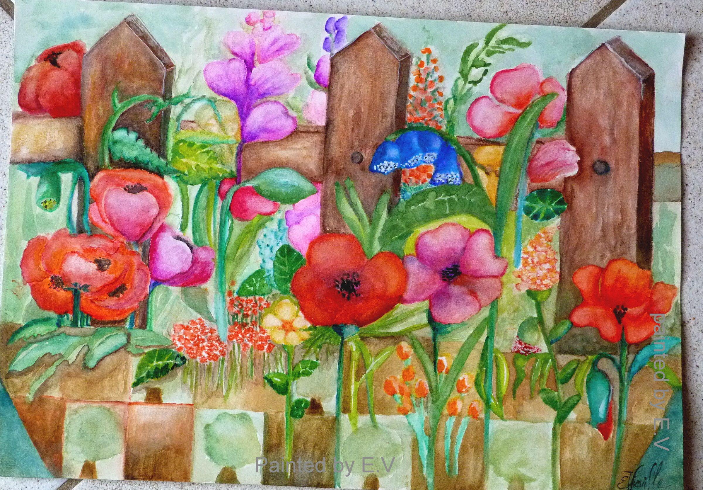 Jardiniere Sauvage Aquarelle Coloriage Aquarelle Crayon De Couleur
