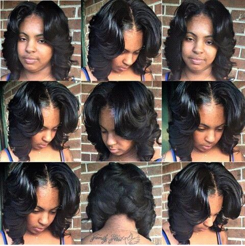 Middle Part Layered Bob Quick Weave Hairstyles 27 Piece Hairstyles Weave Bob Hairstyles