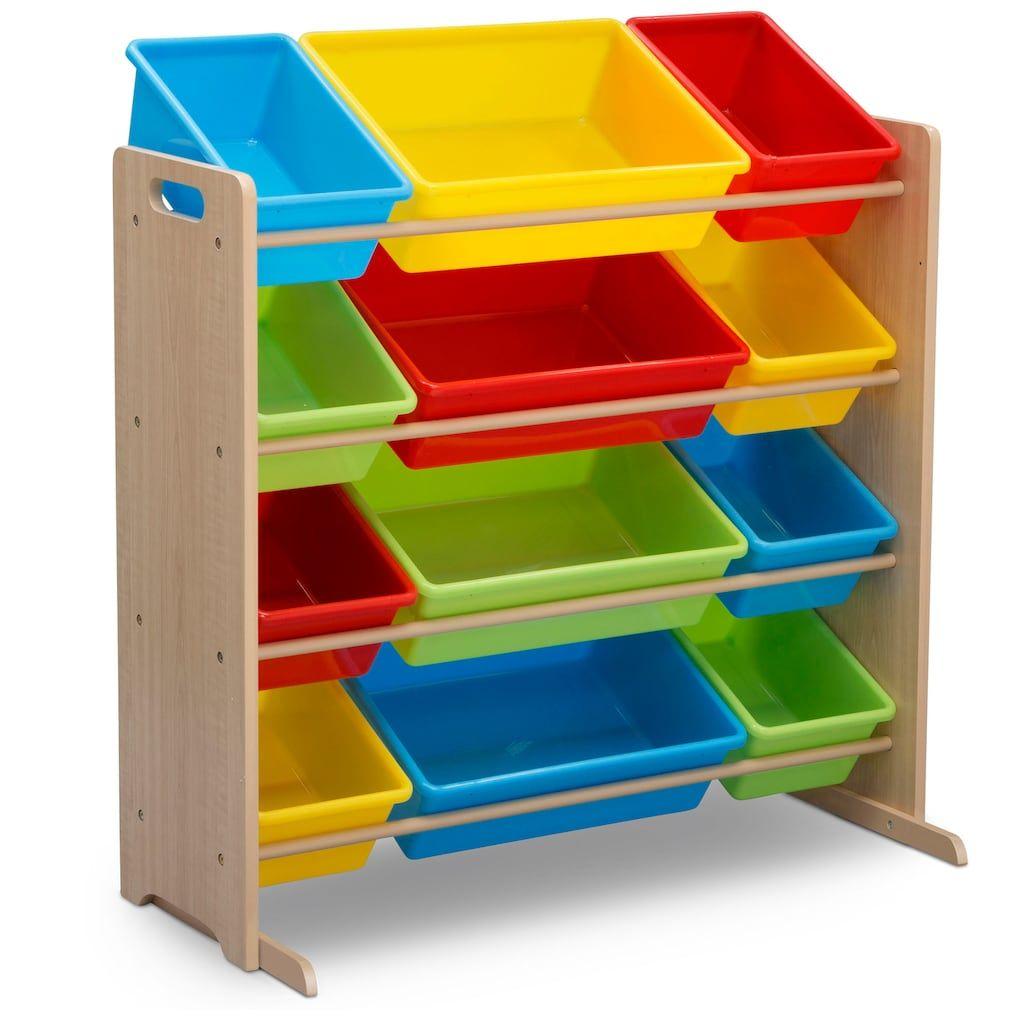 Delta Children Kids 12 Plastic Bins Toy Storage Organizer White Kid Toy Storage Toy Storage Plastic Bins