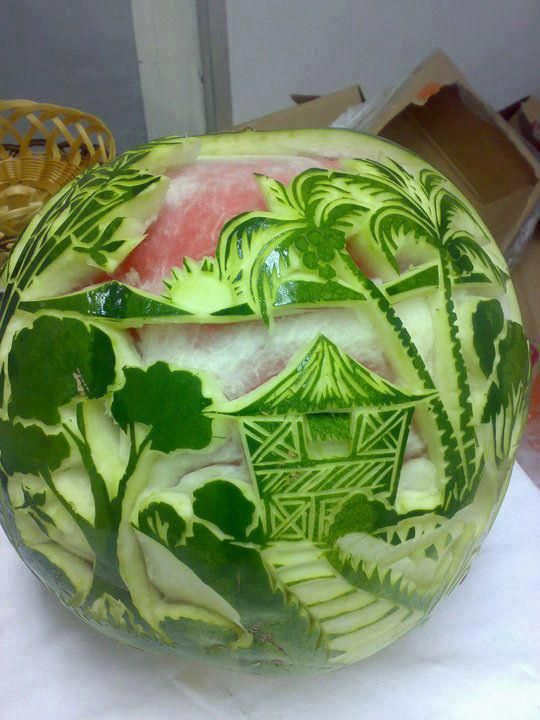 Water melon carving watermelon creations r awesome