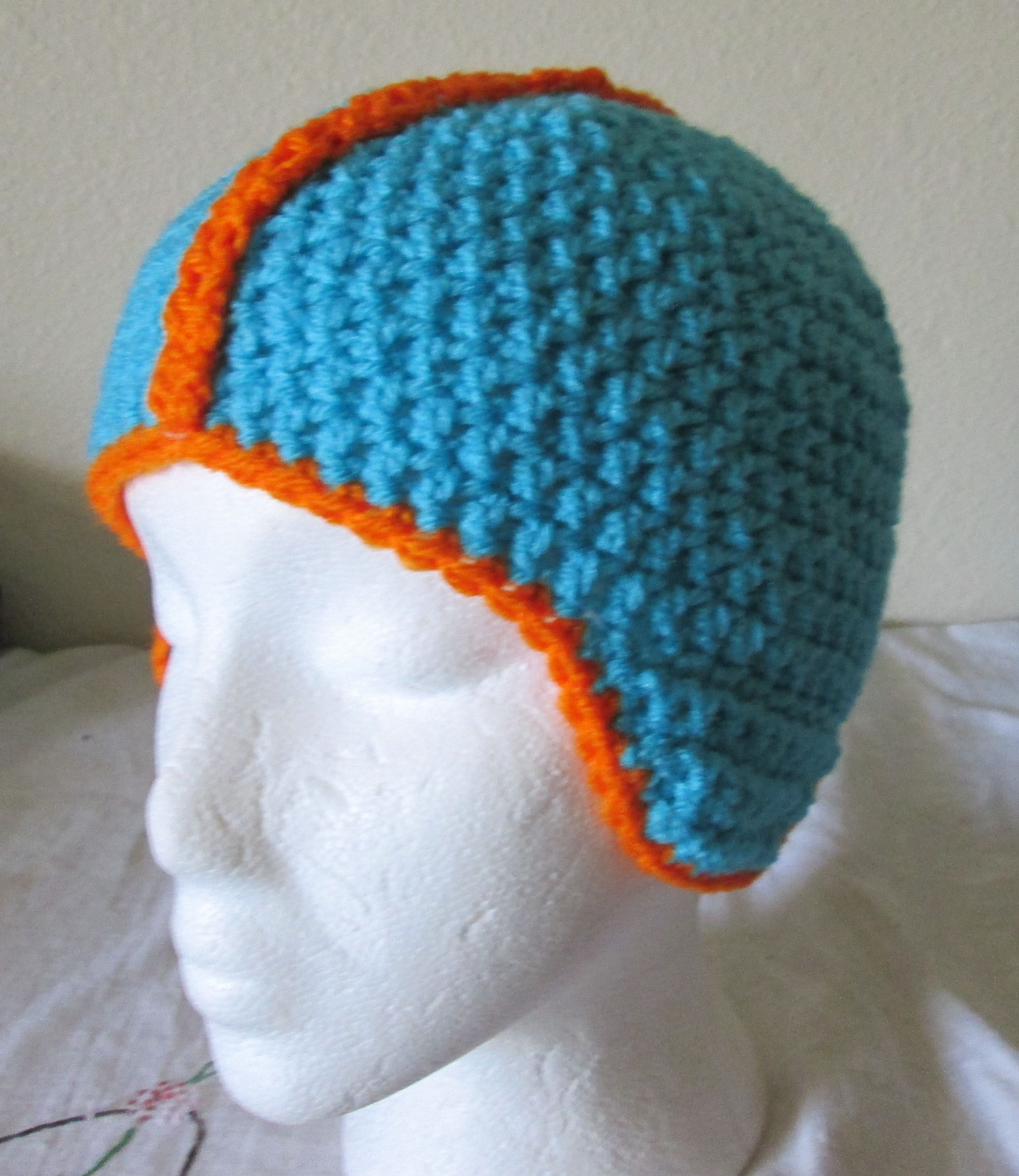 Crochet Miami Dolphins Helmet | My Crocheted Creations For Sale ...