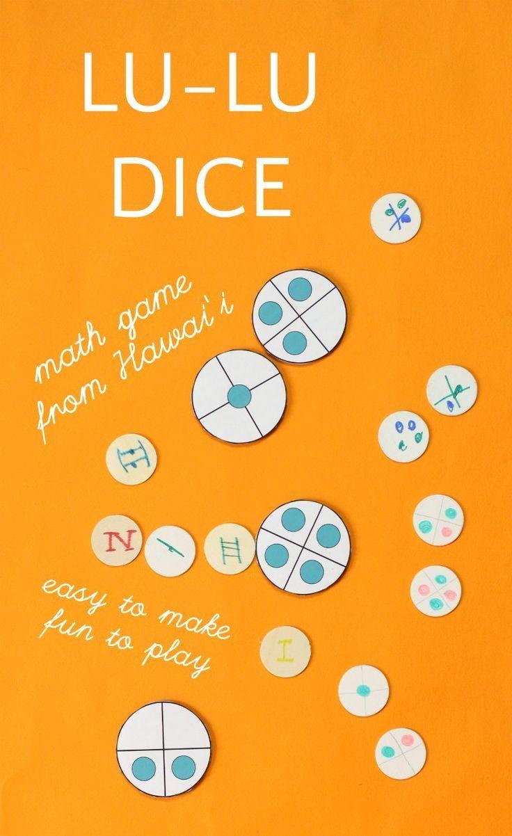 Lu-lu Dice: A Fun Math Game from Hawai\'i | Fun math, Math skills and ...