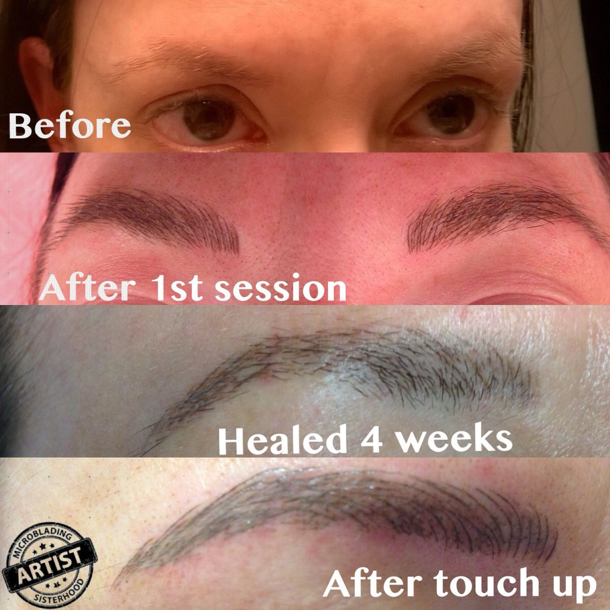 before and after eyebrow microblading Fit Brows Greenville South ...