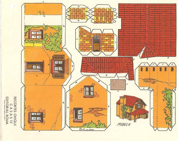 Recortables casas construcciones rafael castillejo - Construcciones de casas ...