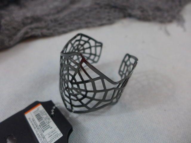 Halloween Jewelry Spiderweb Cuff Bracelet Hematite New #Target #Cuff