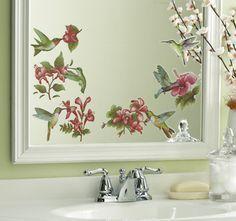 Beautiful Hummingbird Bathroom Set