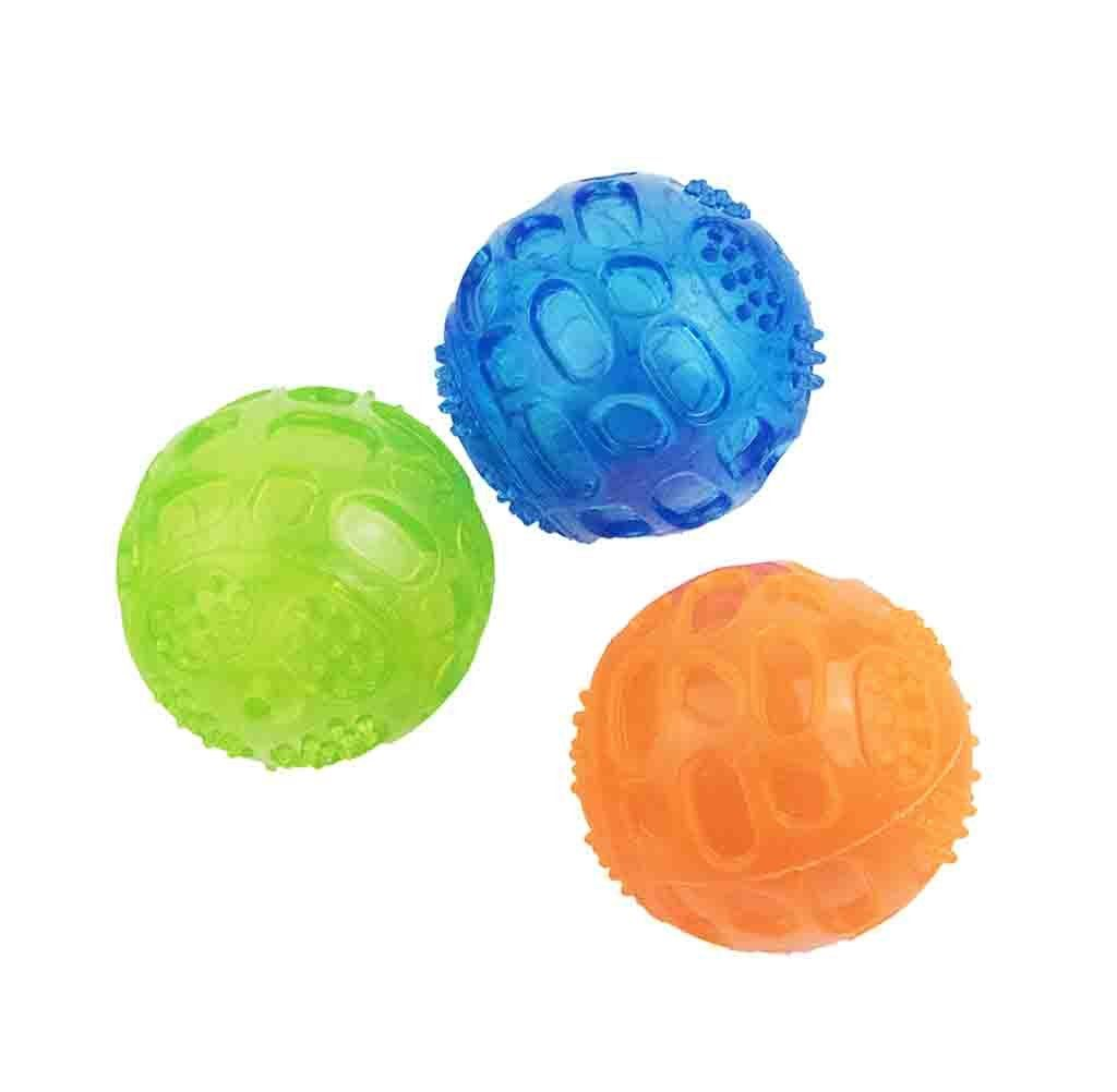 Pet Show Squeaky Dog Balls Toys Chew Rubber Durable Molar And