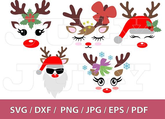70 OFF Christmas Reindeer Face SVG Deer Head Svg