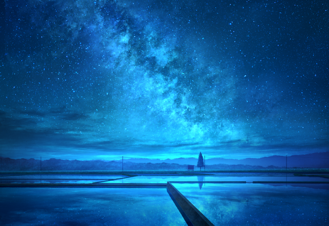 27 Calm Anime Wallpapers Wallpaper Anime Landscape Blue Sky Stars Night Download Set Of High Qua Anime Scenery Wallpaper Anime Wallpaper Scenery Wallpaper