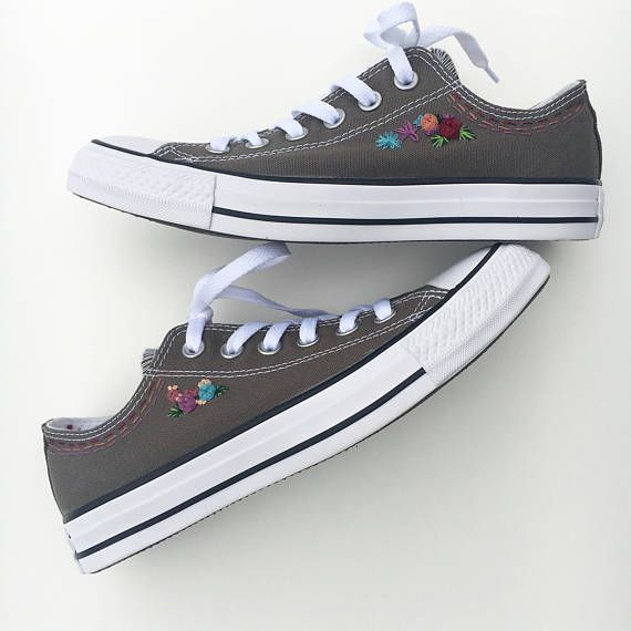 Hand Embroidered Converse Shoes Included You Choose Colors Embroidered Shoes Diy Embroidery Shoes Embroidered Shoes