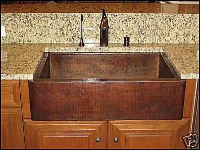 33 Copper Farmhouse Single Bowl Kitchen A Sink D B