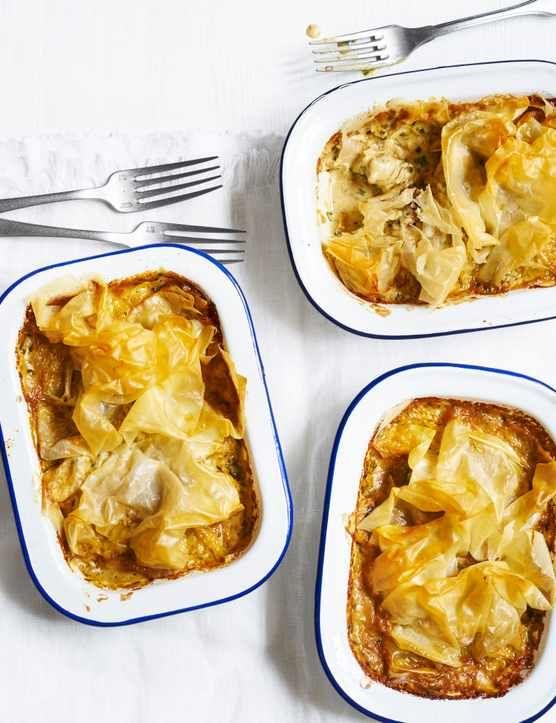 Lighter chicken filo pies | Recipe | Food recipes, Chicken ...