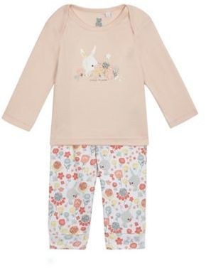9bc8d3a24a47 Bluezoo Baby girls  multi-coloured bunny print pyjama top and ...