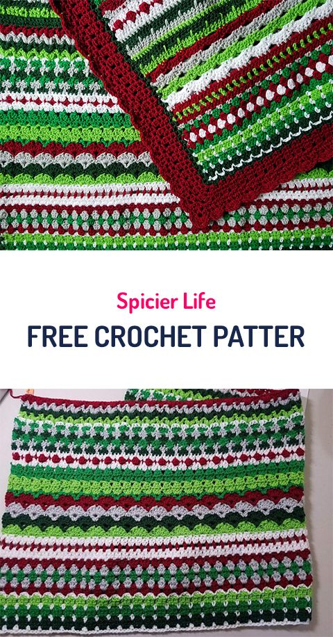 Spicier Life Blanket Free Crochet Pattern #crochet #yarn #homedecor ...