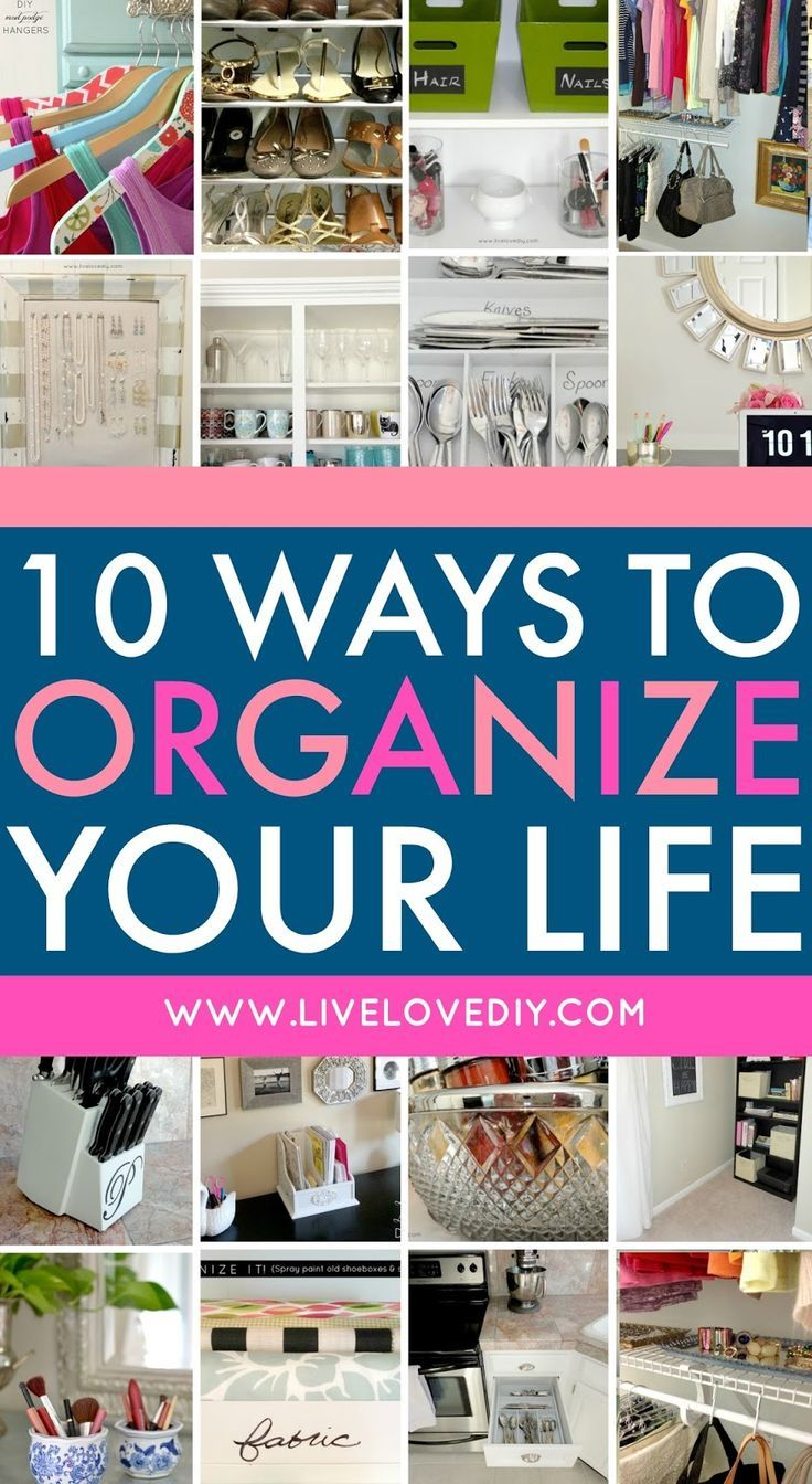 10 Ways To Organize Your Life Using Stuff You Already Own Tip 2 Is Genius