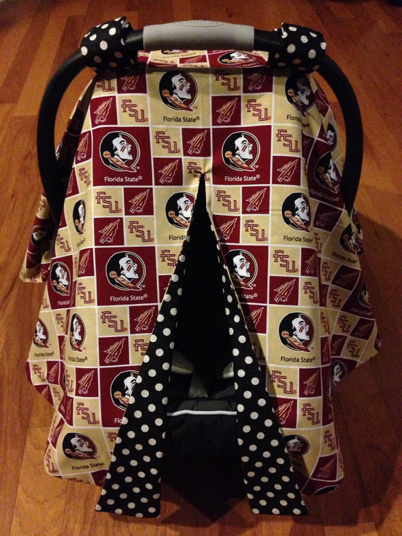 Florida State Seminoles Car Seat Canopy By LadybugsKissBoutique
