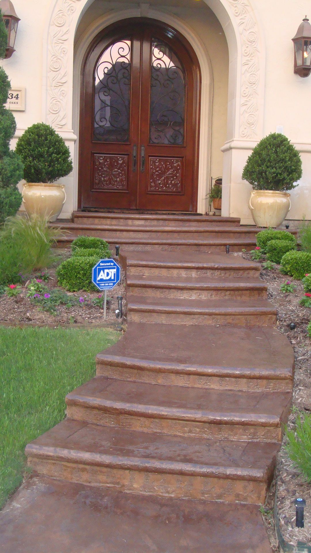 Tinted Sealer Photo Gallery Direct Colors Inc Painted Concrete Steps Stained Decor