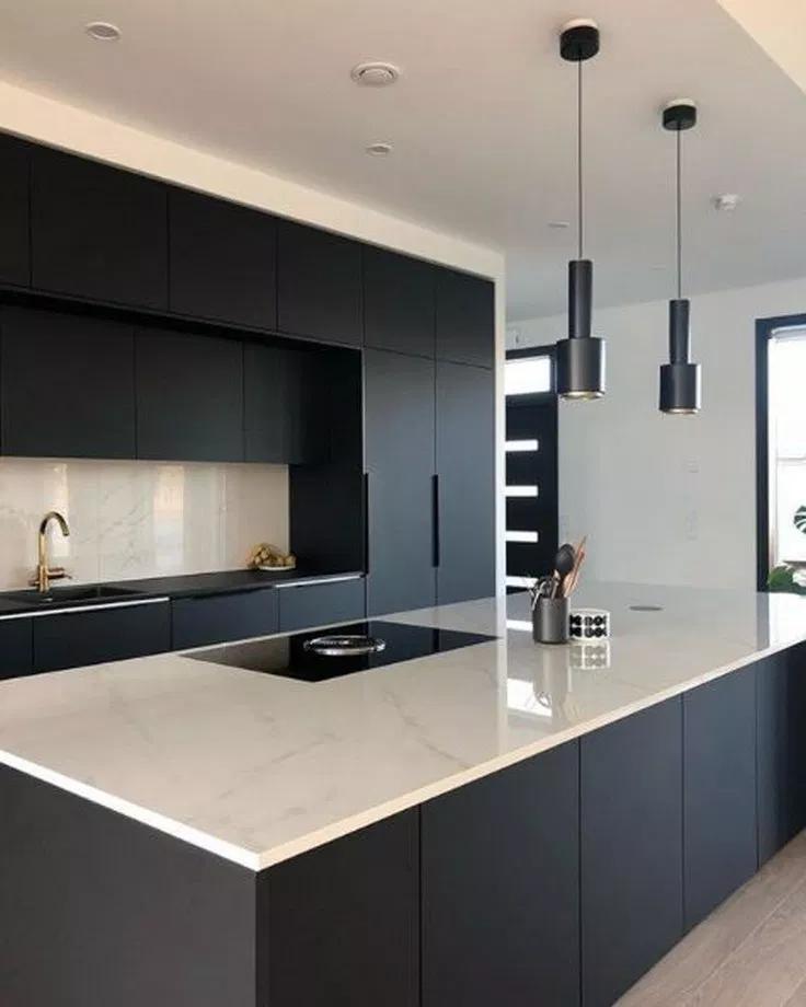 60 Gorgeous Black Kitchen Ideas For Every Decorating Style 13 Kitchendesign Kitchenideas Gentileforda Com Stilvolle Küche Luxusküchen Küchen Design