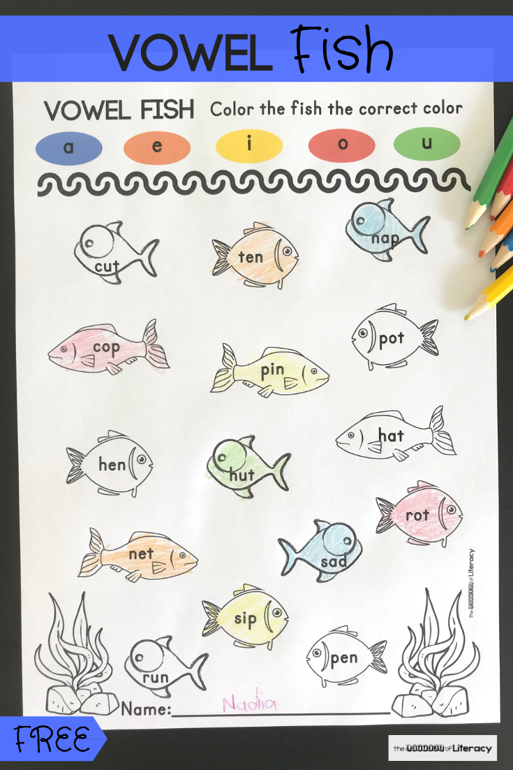 Fish Short Vowel Activity Vowel Activities Short Vowel Activities Phonics Kindergarten