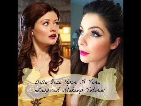 Belle Once Upon A Time Inspired Halloween Makeup Hair Tutorial Princess Makeup Disney Princess Hairstyles Belle Makeup