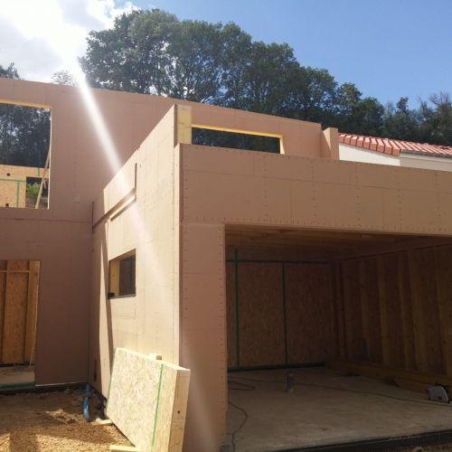 maison construction ossature bois - Ban Saint Martin - R+1 - 155 m2 - construire son garage en bois