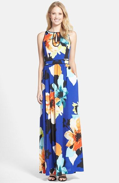 be2de8177fb Vince Camuto Floral Print Keyhole Maxi Dress (Regular   Petite) available  at  Nordstrom